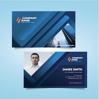 Современная визитка с фото