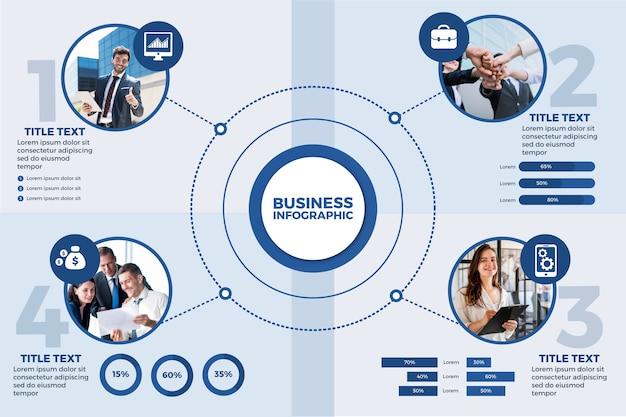 写真とビジネスのインフォグラフィック