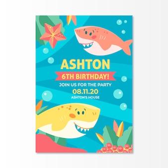 Красочный детский шаблон приглашения дня рождения