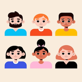 Аватары стилей для разных мужчин и женщин