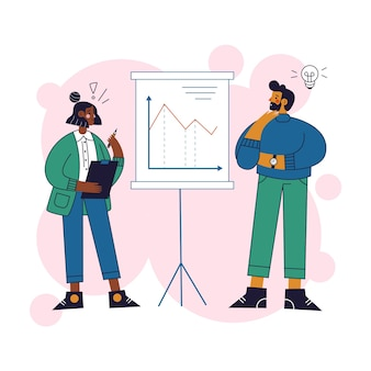 統計を見てビジネス人々