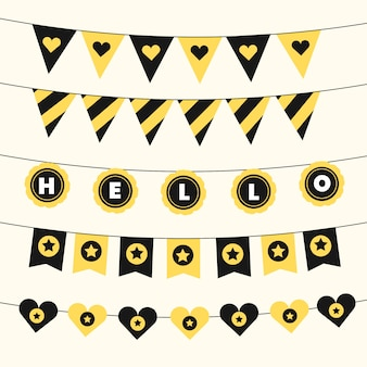 黒と金色の色調で誕生日の装飾