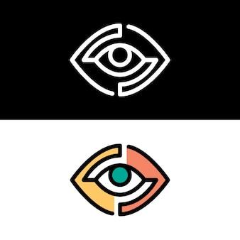 シンプルでカラフルなコーポレートアイデンティティのロゴのテンプレート