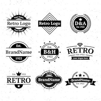 Шаблон логотипа ретро фирменный стиль