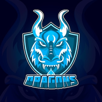 スポーツマスコットコーポレートアイデンティティのロゴのテンプレート