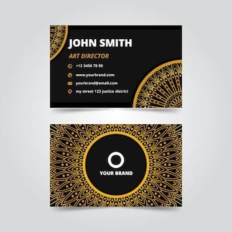 Концепция шаблона визитной карточки мандалы