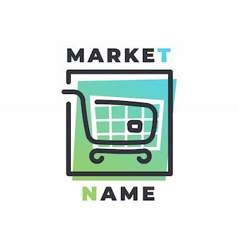 スーパーマーケットのロゴのテンプレート