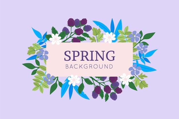 Прекрасный весенний фон с цветами
