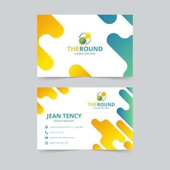 Абстрактный дизайн визитной карточки