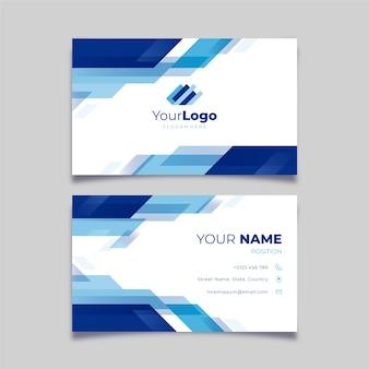 Абстрактная концепция визитной карточки