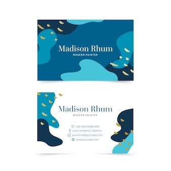 Шаблон для визитки с абстрактной краской