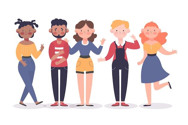 Иллюстрация группы людей