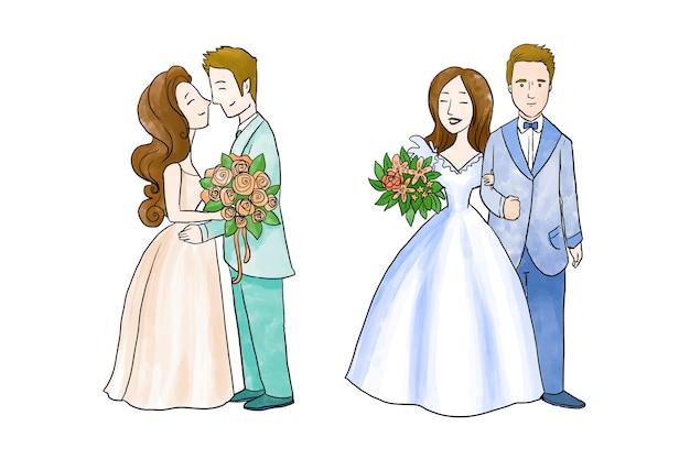 結婚式のカップルのコレクション