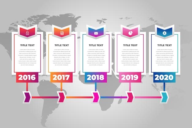 Хронология инфографика шаблон
