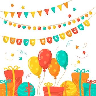 Украшение на день рождения с воздушными шарами