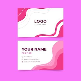 Красочная тема шаблон визитной карточки