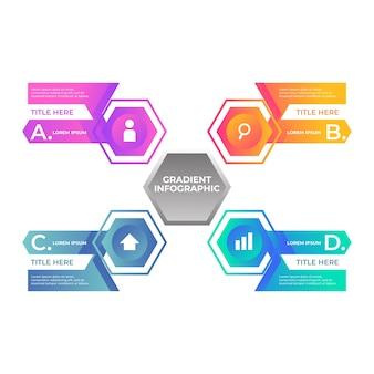 Градиент инфографики концепция с эволюцией