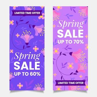 Ручной обращается весенние продажи баннеров