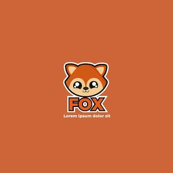 かわいいフォクシーコーポレートアイデンティティのロゴのテンプレート