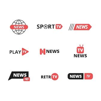 Черный и красный фирменный стиль логотипа шаблона