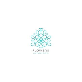 花の香水のコーポレートアイデンティティのロゴのテンプレート