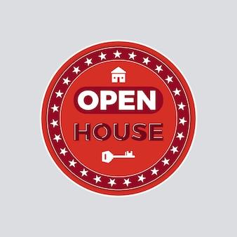 Стиль этикетки для открытого дома