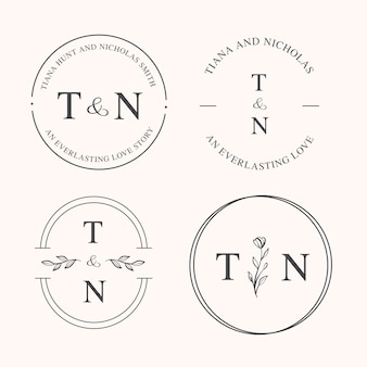 エレガントなウェディングコレクションのロゴ