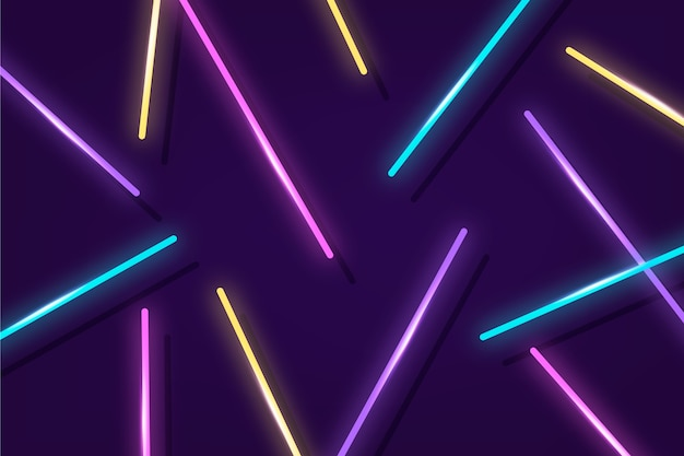 Светящиеся неоновые огни фон