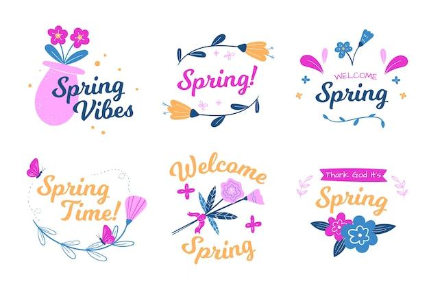 春のラベルコレクションデザイン