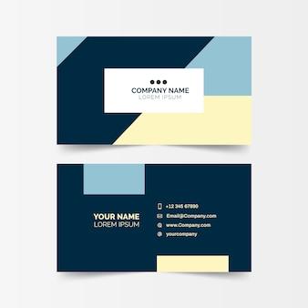 Минимальная визитка с геометрическими формами