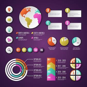 Набор различных инфографики элементов