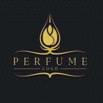 豪華な花の香水のロゴ