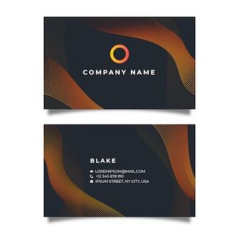 Темный абстрактный шаблон визитной карточки