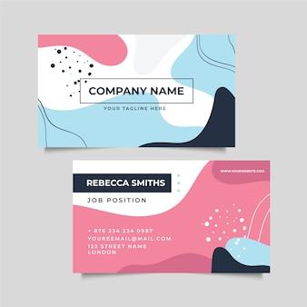 Абстракция мемфис, нарисованная карточка компании