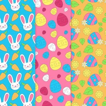 イースター卵と手の描かれたパターン