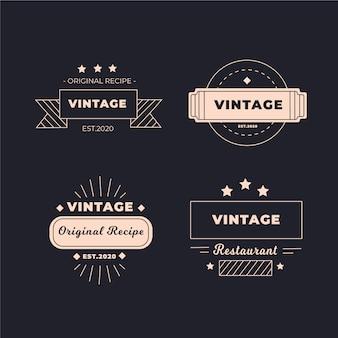 レトロなレストランのロゴのコレクション