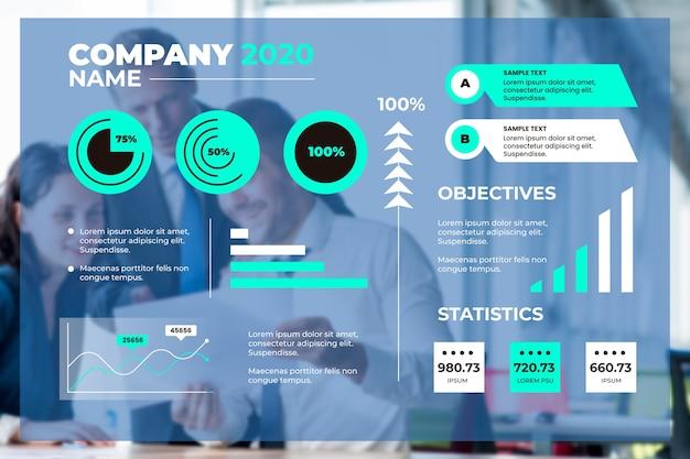 ビジネスインフォグラフィック用のテンプレート