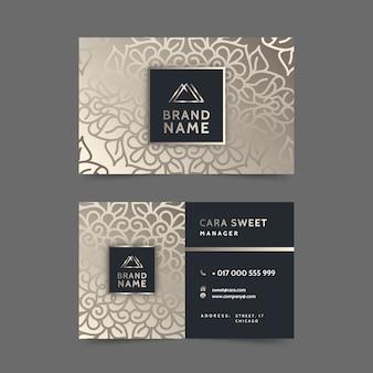Мандала визитная карточка стиль шаблона