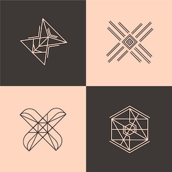 抽象的な直系ロゴコレクション