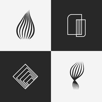 抽象的な直系ロゴコレクションコンセプト