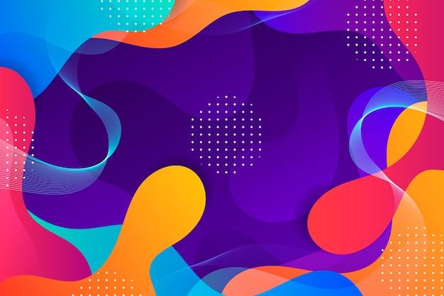 Красочный волнистый абстрактный фон
