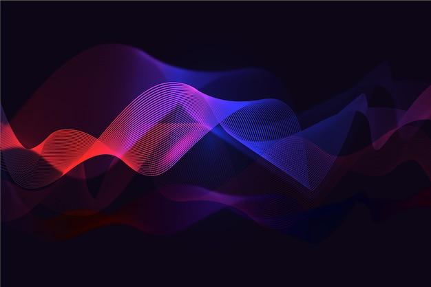 Волнистый градиент фона красный и синий