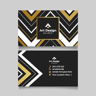 Концепция шаблона элегантный визитной карточки