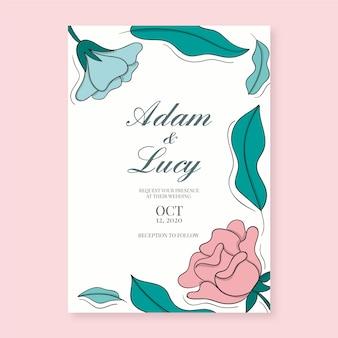 Цветочные свадебные приглашения шаблон темы