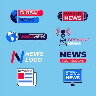Коллекция логотипов новостей