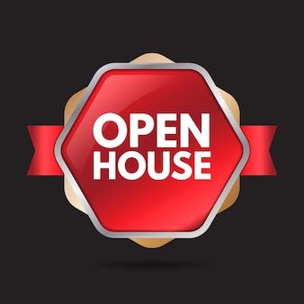 Дизайн этикетки открытого дома