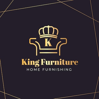 エレガントな家具のロゴ