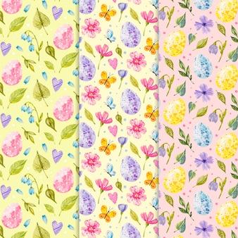 水彩デザインイースターの日のパターン
