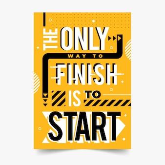 Знаменитый дизайн цитаты постер