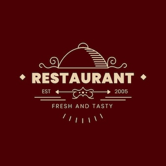Винтажный логотип ресторана
